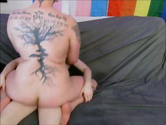 Horny BBw rides a shecock