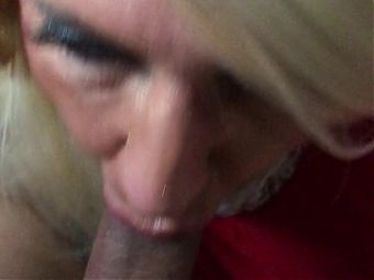 Beautiful CD Sucking Cock