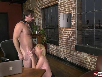 Busty trans Jamie French facefucked and barebacked by doctor
